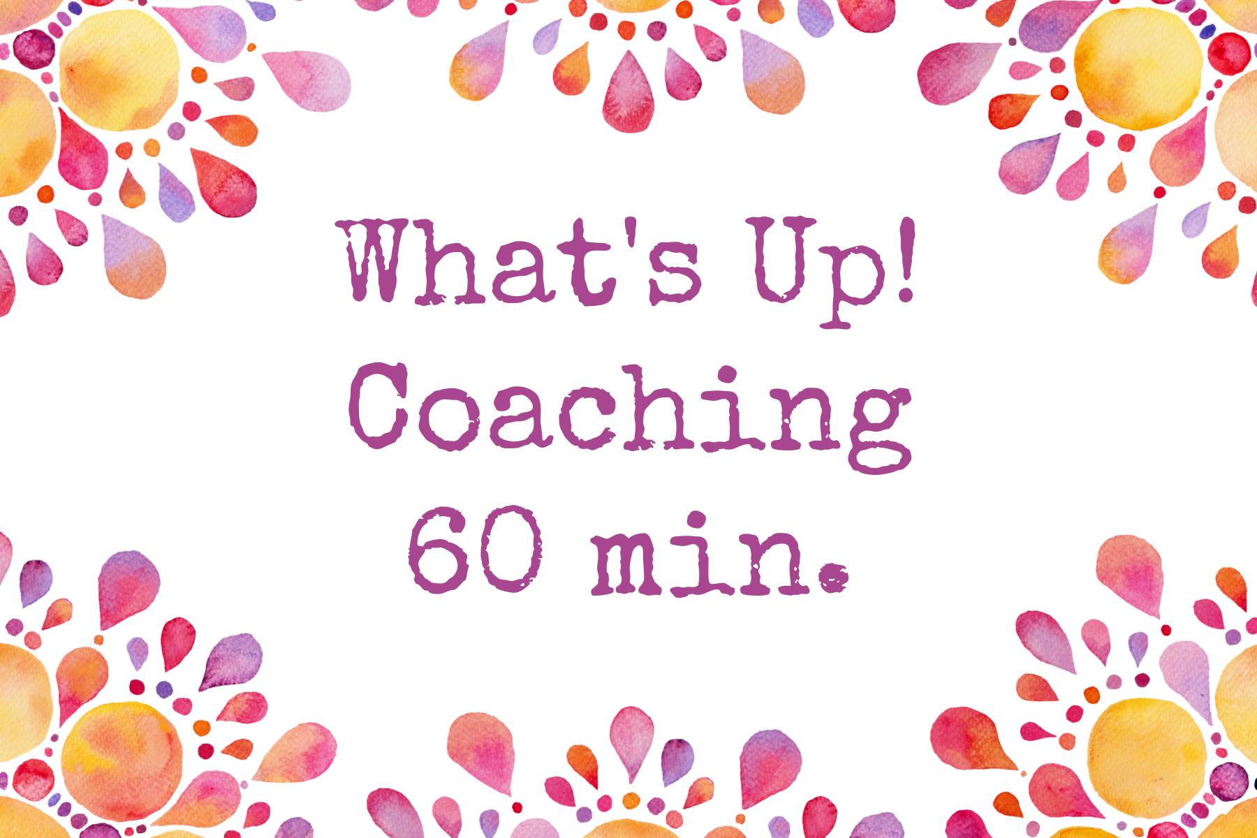 what's up coaching via whatsapp